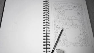 Alice in Wonderland cover sketch