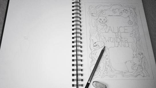 Alice in Wonderland cover sketch