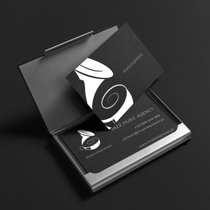 The idea was to create fresh, minimal and elegant logo with music and coffee connection.